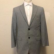 Versace Collection Mens Suit Jacket Blue Plaid Size 38r American / 48r Italian Photo