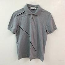 Versace Collection Mens Gray Short Sleeve Cotton Polo Size M Medium Photo