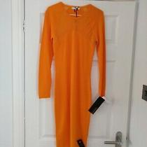 Versace Collection Midi Knit Dress 100% Authentic  - Orange - It 38 Uk 6 Photo