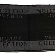 Versace Collection Scarf New W/ Tags Black Gray Photo