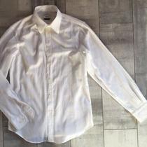 Versace Collection Tonal-Stripe Cotton Dress Shirt White 155/39 M Photo