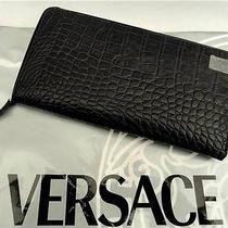 Versace Colletion Croc Leather Wallet Bag- Unisex Photo