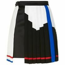 Versace Colour Block Pleated a-Line Skirt  It42/uk10  New Photo