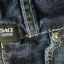 Versace Couture Denim Skirt - Size 28 Photo