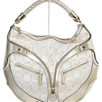 Versace Cream and Gold Monogram Hobo Handbag Photo