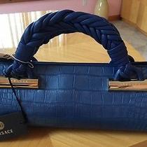 Versace Crocodile Skin Blue Bag Photo