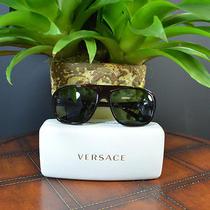 Versace Dark Bordeaux Oversized Sunglasses 388/71 Photo