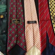 Versace Fendi  Gucci  Balmain Mens Ties 5 Pieces Freebies Photo