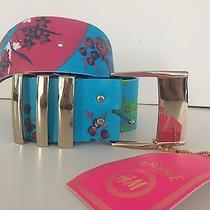 Versace for h&m Collection Floral Leather Belt Womens M Photo