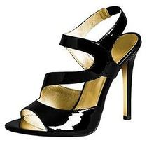 Versace for h&m Size Us 7- Black Patent Leather Stiletto Heels New Photo