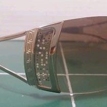 Versace Gold Frame Gradient Brown Lenses Swarovsky Crystal Model 2058 Sunglasses Photo