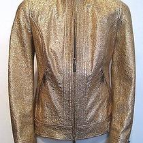 Versace Gold Leather Jacket Photo