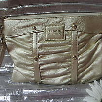 Versace Golden Pochette-Pouch-Wrist Bag-New Photo