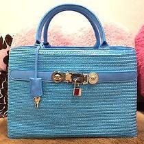 Versace Gorgeous Turquoise Handbag Price Tag  3375.00 Sold Out Photo