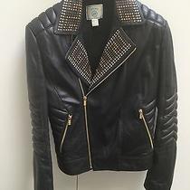 Versace h&m Studded Leather Jacket M Photo