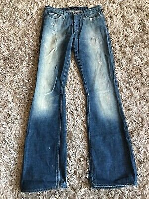 Versace Jeans Couture Beautifully Crafted Distressed Light Blue Jeans 26/40 Photo