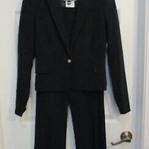 Versace Jeans Couture Black Jacket Blazer Dress Pants Suit  2 Pc  26  40 Photo