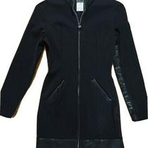 Versace Jeans Couture Black Zipper Ponte Knit Jacket/dress Women's 28/42 (Small) Photo