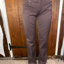 Versace Jeans Couture Ladies Trousers Purple Size 8 Tapered Fit Mid Rise Photo