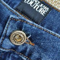Versace Jeans Couture Men's New Slim Ric Vjc19 Blue Jeans Size 38 Photo