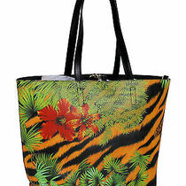 Versace Jeans Couture Tropical Large Reversible Shopper Tote Bag Photo
