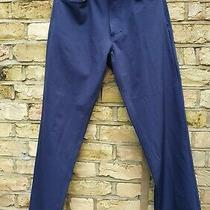 Versace Jeans Couture Vintage 90s Blue Stretch Trousers Waist 34 Photo