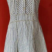 Versace Jeans  Denim Striped Blue Dress Us Size 10 Photo