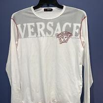 Versace Jeans Fashion White T-Shirt Made in Italy Mens Large Medusa Head Photo
