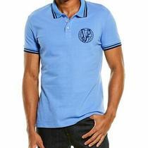 Versace Jeans Slim Fit Pique Polo Shirt Men's Blue 54 Photo
