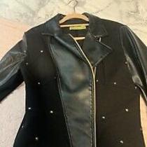 Versace Jeans Studded Leather Jacket Size It Size 46 Photo
