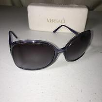 Versace Large Purple Sunglasses With Case Exclent Condtion  Photo