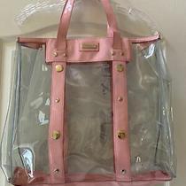Versace Logo Tote Bag Rare Pvc Clear Pink Summer Bag 2010 Art. 79115 Photo