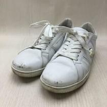 Versace Martin Low 40 Wht Leather Dsu6450 Size 40 White Sneaker 295 From Japan Photo