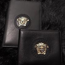 Versace Medusa Bi-Fold Wallet & Matching Passport Holder (Authentic) Photo