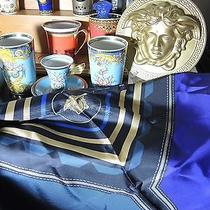 Versace Medusa  Silk Scarf Silk Authentic Large 35