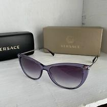 Versace Medusa Strass Ve4345b 5160/36 Lilac/violet Shaded  Sunglasses Photo