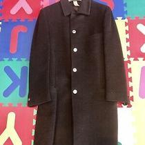 Versace Men Cashmere /wool Overcoat  Charcoal Grey  Italian Size  50 Photo