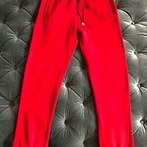 Versace Men's Authentic Jogging Pants Red Drawstring Joggers Sweatpants Size S Photo
