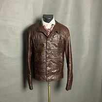 Versace Men's Brown Leather Jacket Size 48 Photo