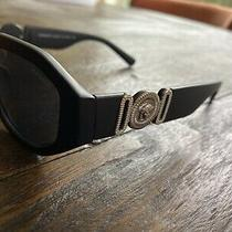 Versace Men's Sunglasses Great Condition Silver and Black Photo