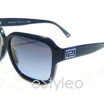 Versace Men Women Sunglasses Square Navy Blue Mod4207 Photo