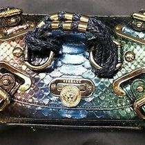 Versace Multicolor Ombre Python Leather Canyon Bag Photo