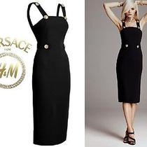 Versace  New Black Silk Dress   Size S   Authentic Versace for h&m Photo