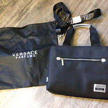 Versace Perfume Nylon Purse/ Tote Bag With Dust Cover Photo