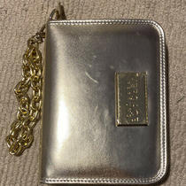 Versace Perfume Wallet/clutch Gold Metallic With Chain Brand New Photo