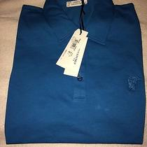 Versace Polo 3 Button - Ceruleo Msrp 595.00 Photo