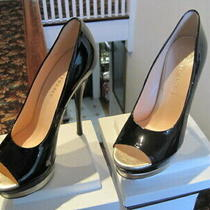 Versace Pumps Dsl089s Size 39 Black Patent Photo