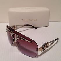 Versace Shield Sunglasses Italy  2131 1252/68 130 2n  Photo