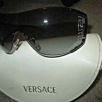 Versace Signature Swarovski Crystal Sunglasses With Case Photo