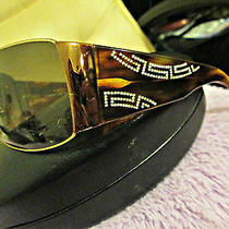 Versace Signature Swarovski Crystal Sunglasses With Prada Case Photo